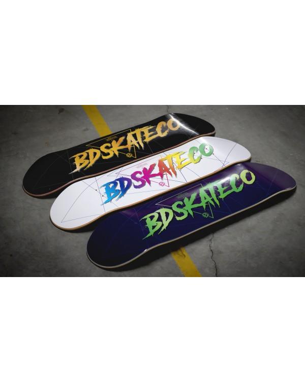 BDSKATECO skate deck Script White