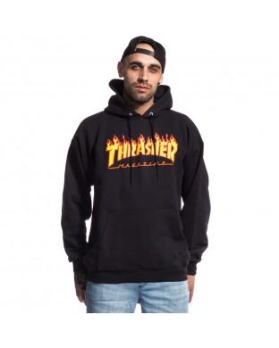 SUDADERA THRASHER FLAME BLACK (UNISEX)