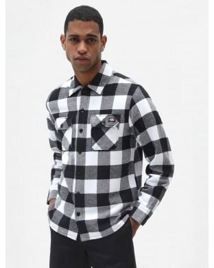 Camisa Dickies Sacramento blanca y negra
